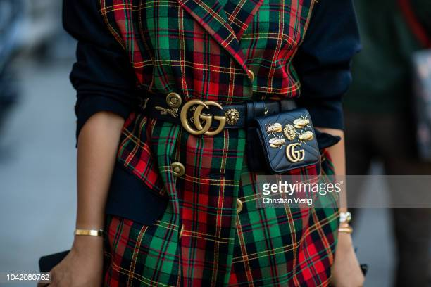 A guest is seen outside Ingie Paris during Paris Fashion Week Womenswear Spring/Summer 2019 on September 27 2018 in Paris France