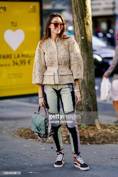 A guest is seen outside Koche during Paris Fashion Week Womenswear Spring/Summer 2019 on September 25 2018 in Paris France