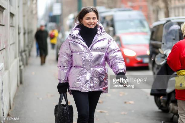 A guest is seen outside Marni during Milan Fashion Week Fall/Winter 2018/19 on February 25 2018 in Milan Italy