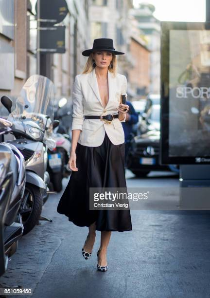 A guest is seen outside Max Mara during Milan Fashion Week Spring/Summer 2018 on September 21 2017 in Milan Italy