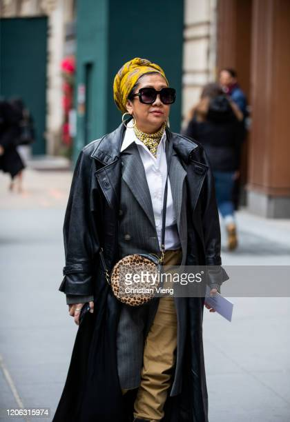A guest is seen outside Michael Kors during New York Fashion Week Fall / Winter 2020 on February 12 2020 in New York City