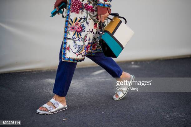 A guest is seen outside Missoni during Milan Fashion Week Spring/Summer 2018 on September 23 2017 in Milan Italy
