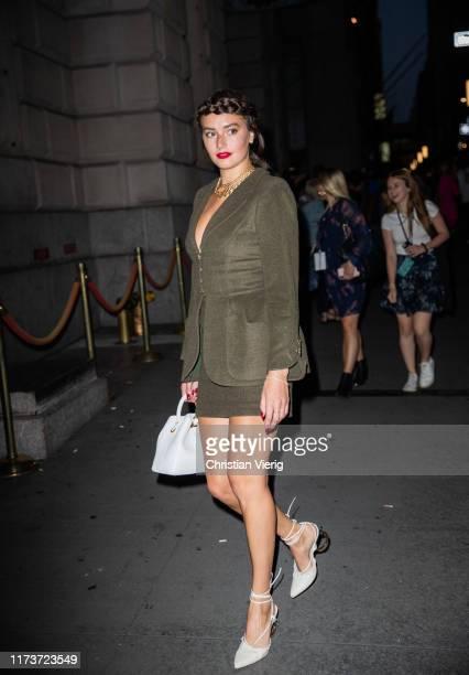 Guest is seen outside Oscar de la Renta during New York Fashion Week September 2019 on September 10, 2019 in New York City.