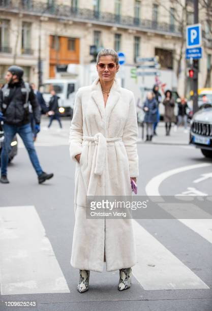 Guest is seen outside Ralph & Russo during Paris Fashion Week - Womenswear Fall/Winter 2020/2021 : Day Five on February 28, 2020 in Paris, France.