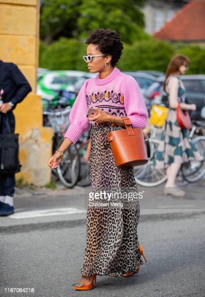 Guest is seen outside Stine Goya during Copenhagen Fashion Week Spring/Summer 2020 on August 08, 2019 in Copenhagen, Denmark.