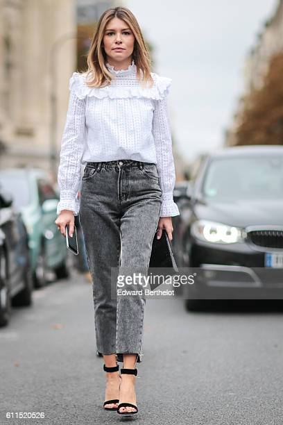 A guest is seen outside the Chloe show at Grand Palais during Paris Fashion Week Spring Summer 2017 on September 29 2016 in Paris France