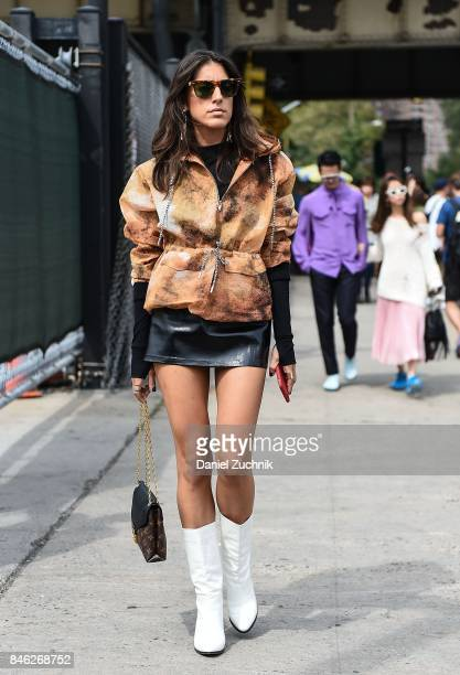 A guest is seen outside the Coach show during New York Fashion Week Women's S/S 2018 on September 12 2017 in New York City