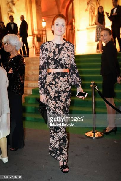 A guest is seen outside the Longchamp 70th Anniversary Celebration at Opera Garnier on September 11 2018 in Paris France