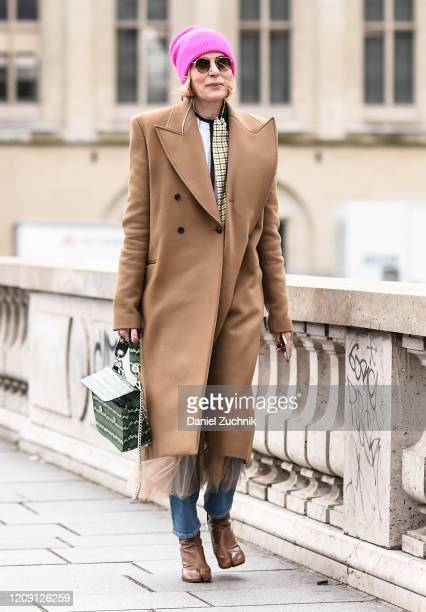 A guest is seen outside the Paco Rabanne show during Paris Fashion Week AW20 on February 27 2020 in Paris France