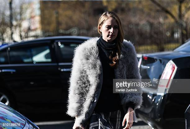 A guest is seen outside the Tibi show during New York Fashion Week Women's Fall/Winter 2016 on February 13 2016 in New York City