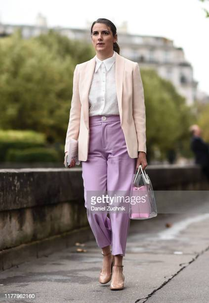 A guest is seen outside the Valentino show during Paris Fashion Week SS20 on September 29 2019 in Paris France