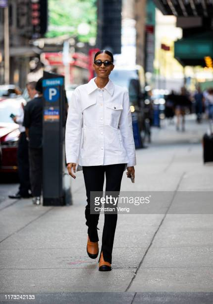 A guest is seen outside Tibi during New York Fashion Week September 2019 on September 08 2019 in New York City
