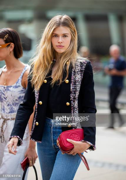 Guest is seen outside Tory Burch during New York Fashion Week September 2019 on September 08, 2019 in New York City.