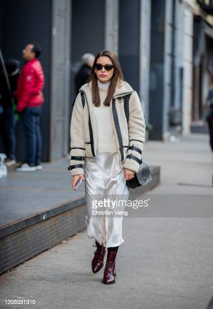Guest is seen outside Ulla Johnson during New York Fashion Week Fall/Winter 20 on February 08, 2020 in New York City.
