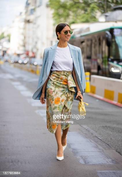 Guest is seen outside Zuhair Murad on July 07, 2021 in Paris, France.