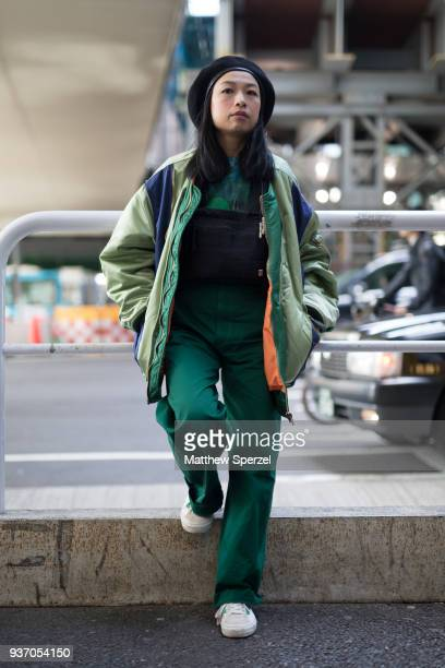 d1a256598067b A guest is seen wearing a green outfit with beret during the Amazon Fashion  Week TOKYO
