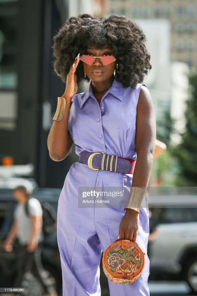 Street Style - New York Fashion Week September 2019 - Day 5 : Photo d'actualité