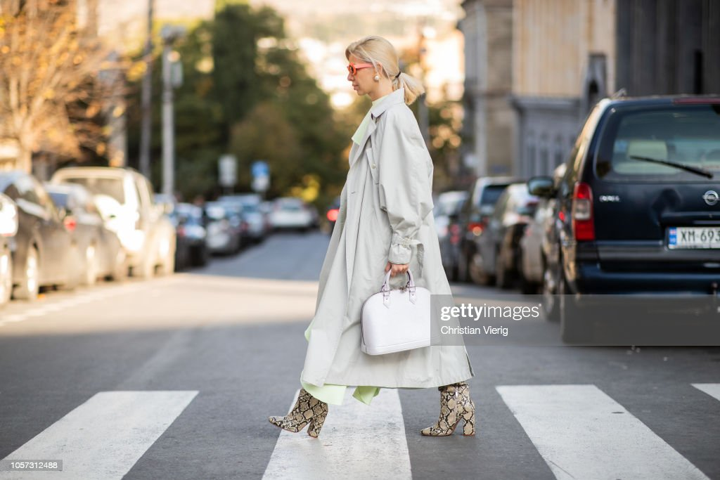 Street Style - Mercedes-Benz Tbilisi Fashion Week - November 4, 2018 : News Photo