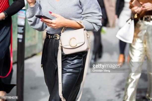Guest is seen wearing Chloe bag outside Issey Miyake during Paris Fashion Week Womenswear Spring Summer 2020 on September 27, 2019 in Paris, France.