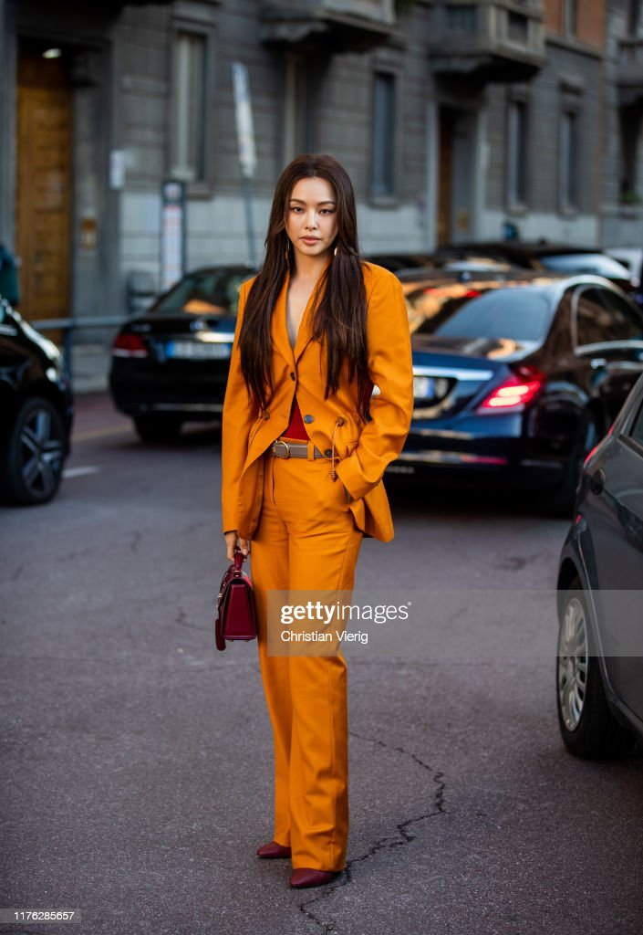 Street Style: September 21 - Milan Fashion Week Spring/Summer 2020 : News Photo