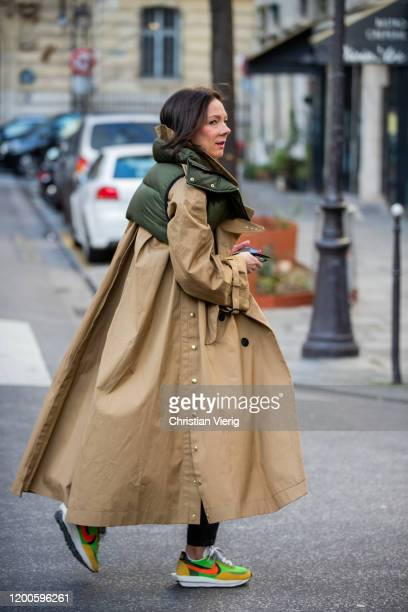 Guest is seen wearing trench coat outside Craig Green during Paris Fashion Week - Menswear F/W 2020-2021 on January 19, 2020 in Paris, France.