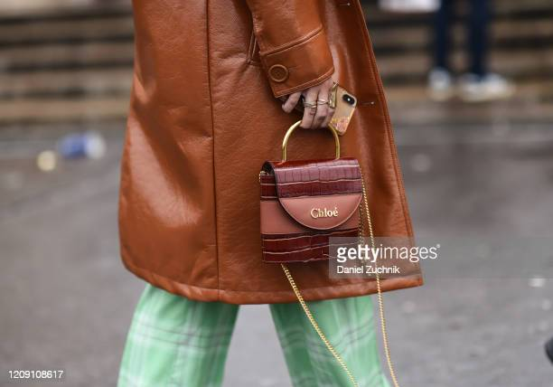 Guest is seen with a Chloe bag outside the Ann Demeulemeester show during Paris Fashion Week: AW20 on February 27, 2020 in Paris, France.