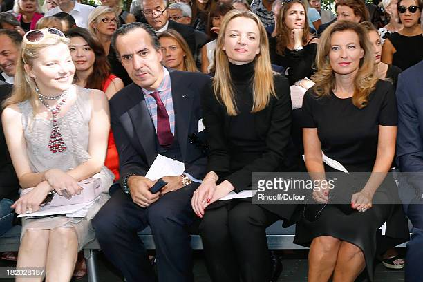 Guest Jaime de Marichalar Delphine Arnault and Valerie Trierweiler attend the Christian Dior show as part of the Paris Fashion Week Womenswear...
