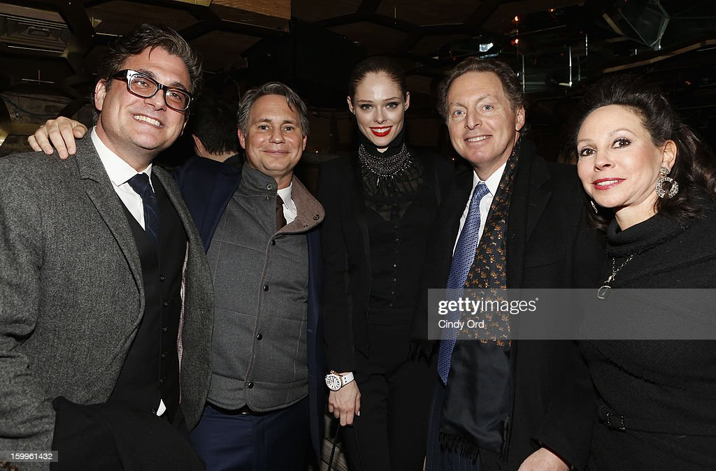 Guest, Jason Binn, Coco Rocha, CEO of Hudson Media James Cohen and wife attend DuJour Magazine Gala With Coco Rocha & Nigel Barker Presented by Invicta at Scott Sartiano and Richie Akiva's The Darbyon January 23, 2013 in New York City.
