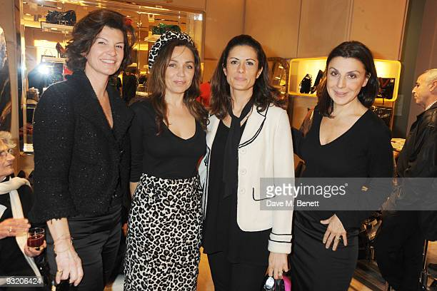 Guest Jeanne Marinne Livia Giuggioli and Allegra Donn attend the Roger Vivier Christie's Jewellery London party on November 18 2009 in London England