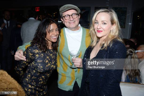 Guest Jeffrey Schrueba and Geneva Carr attend New York Special Screening Of A Beautiful Day In The Neighborhood After Party at Le District Restaurant...