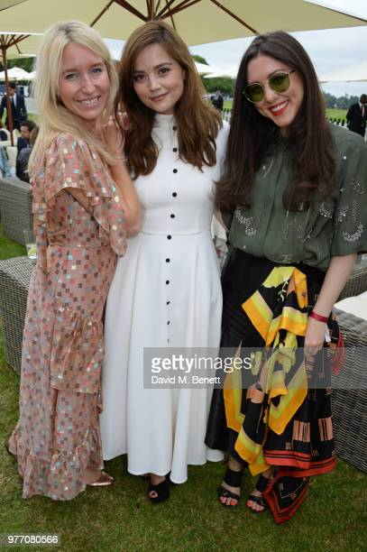 Guest Jenna Coleman and Dena Giannini attend the Cartier Queen's Cup Polo Final at Guards Polo Club on June 17 2018 in Egham England