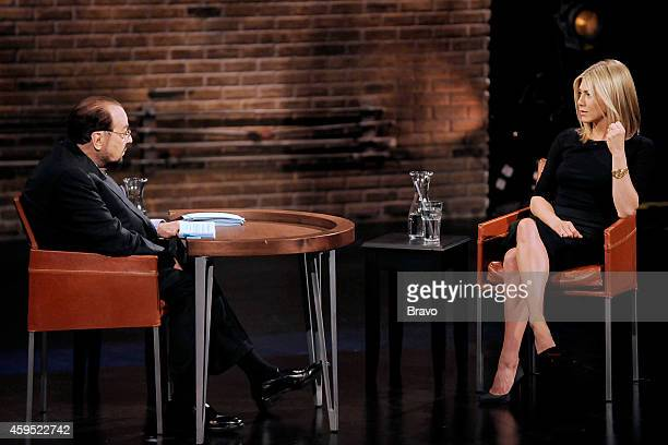 Jennifer Aniston Pictured Host James Lipton talks with actress Jennifer Aniston