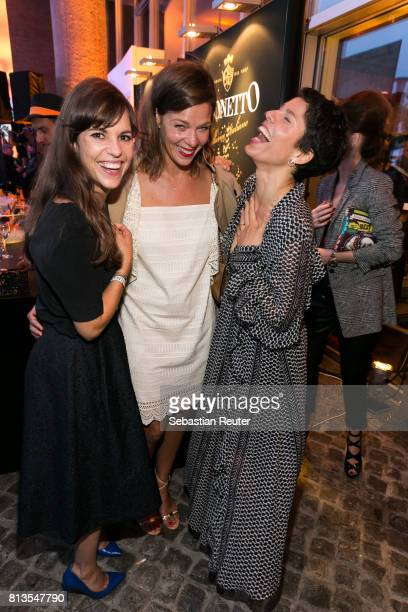 Guest Jessica Schwarz and Jasmin Gerat attend the summer party 2017 of the German Producers Alliance on July 12 2017 in Berlin Germany