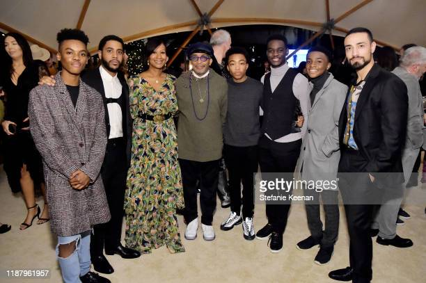Guest Jharrel Jerome Nicole Avant Spike Lee Asante Blackk Ethan Herisse Caleel Harris and Freddy Miyares attend Celebrate the Season Ted's Holiday...