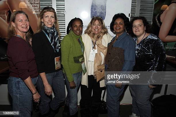 Guest, Jo-Ann Dean, Candace Bowen, Lucy Webb, VP of Women in Film Special Events, guest, Lisa Gowitz of Entertainment Partners