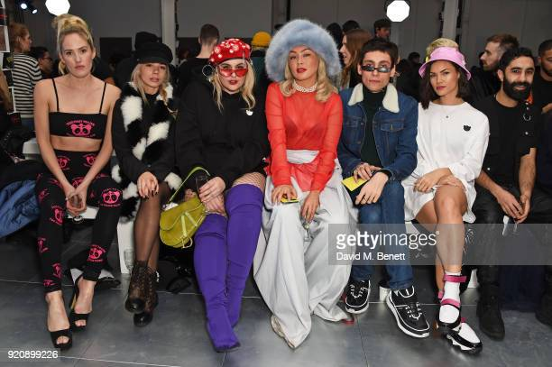 Guest Joanna Kuchta Felicity Hayward Soki Mak Kyle De Volle Sinead Harnett and guest attend the Nicopanda show during London Fashion Week February...