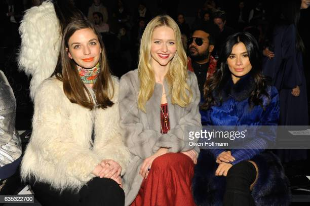 Guest Johanna Braddy and Diane Guerrero attend the Dennis Basso Collection Show during New York Fashion Week The Shows at Skylight Clarkson Sq on...