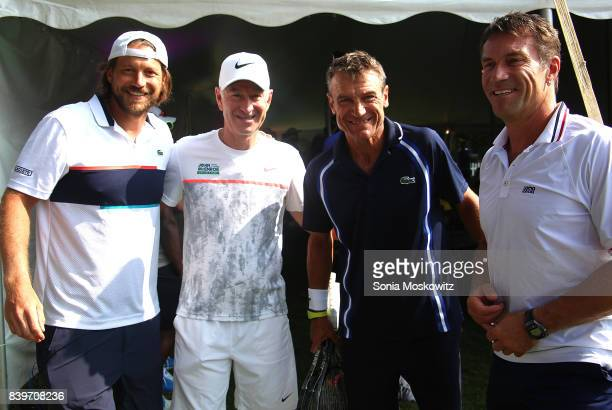 Guest John McEnroe Mats Wilander and Pat Cash attend the Third Annual Johnny Mac Tennis Project Pro Am Event at Sportime on August 26 2017 in...