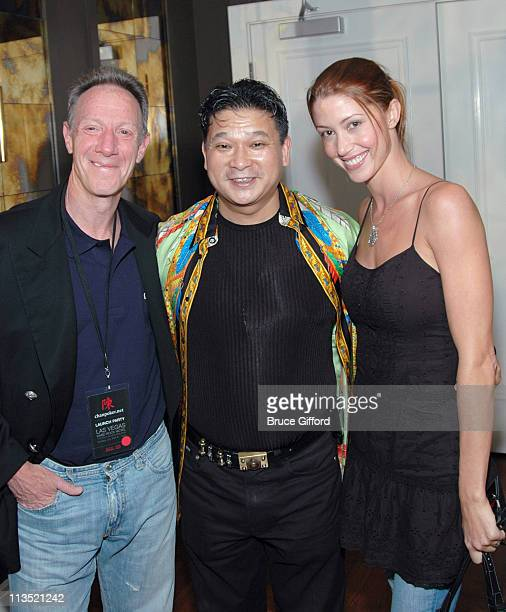 Guest, Johnny Chan and Shannon Elizabeth during 2006 World Series of Poker at The Rio Hotel and Casino, The Hard Rock Hotel and Casino in Las Vegas,...