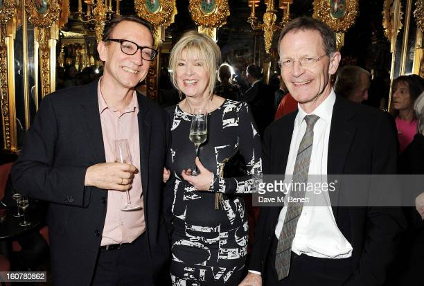 Guest, Julia Somerville and Sir Nicholas Serota attend a reception hosted by Sir David Chipperfield to celebrate the awarding of the RIBA Royal Gold...