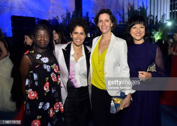 Guest Julie Mehretu Jessica Rankin and Christine Y Kim attend the 2019 LACMA Art Film Gala Presented By Gucci at LACMA on November 02 2019 in Los...