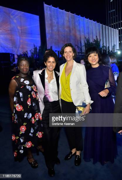 Guest Julie Mehretu Jessica Rankin and Christine Y Kim attends the 2019 LACMA Art Film Gala Presented By Gucci at LACMA on November 02 2019 in Los...