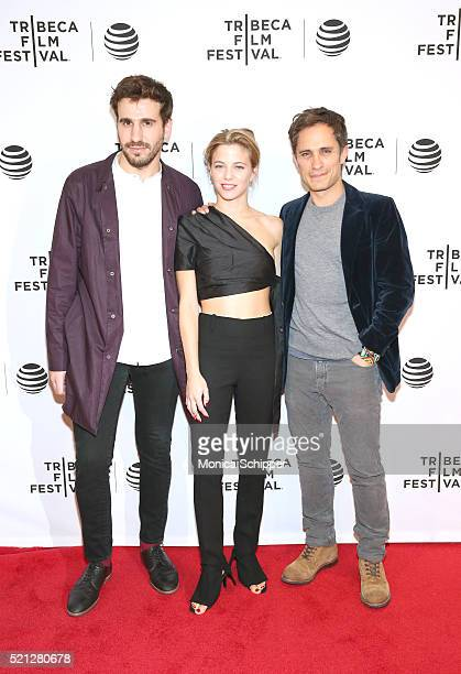 Guest Justina Bustos Gael Garcia Bernal at 'Madly' Premiere 2016 Tribeca Film Festival at Chelsea Bow Tie Cinemas on April 14 2016 in New York City