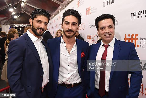 Guest Kamiran Aldeo and Fazal Hakimi attends the Hyena Road premiere during the 2015 Toronto International Film Festival at Roy Thomson Hall on...