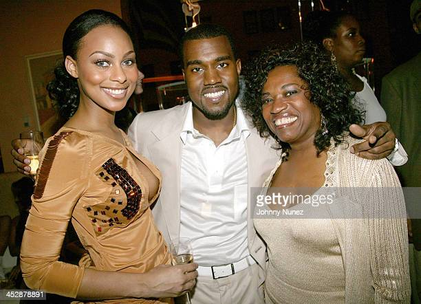 Guest Kanye West and His Mom Donda West during Kanye West 28th Birthday Party Presented by Urban Concepts at Bulgari Store 57th and 5th in New York...