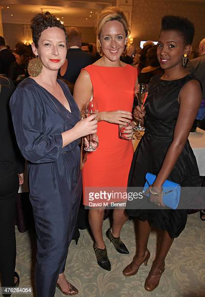 Guest, Kate Pakenham and Jade Anouka attend the South Bank Sky Arts awards at The Savoy Hotel on June 7, 2015 in London, England.