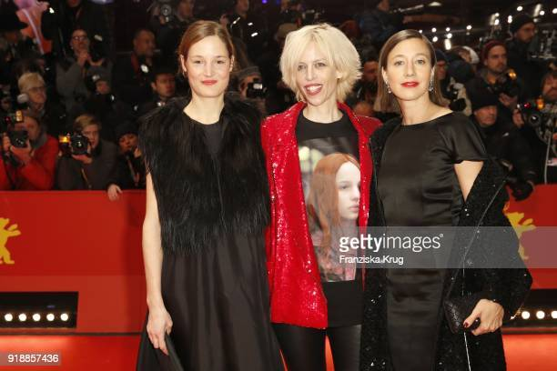 Guest Katja Eichinger and Johanna Wokalek attend the Opening Ceremony 'Isle of Dogs' premiere during the 68th Berlinale International Film Festival...