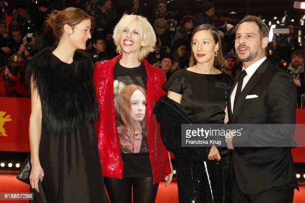 Guest Katja Eichinger Johanna Wokalek and Moritz Bleibtreu attend the Opening Ceremony 'Isle of Dogs' premiere during the 68th Berlinale...