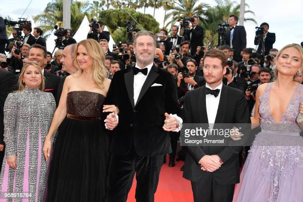 Guest Kelly Preston John Travolta Director Kevin Connolly and guest attend the screening of Solo A Star Wars Story during the 71st annual Cannes Film...