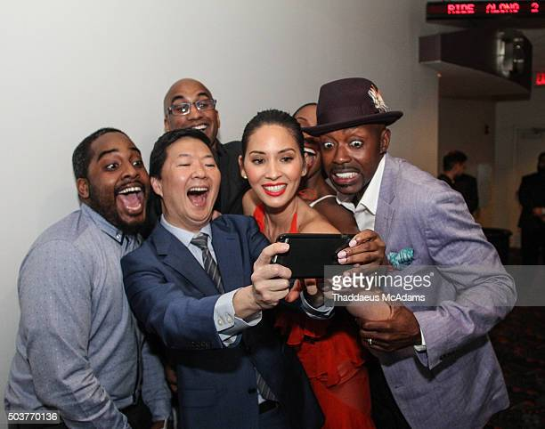 Guest Ken Jeong Tim Story Oliva Munn and Will Packer attend the world premiere of Ride Along 2 at Regal South Beach Cinema on January 6 2016 in Miami...